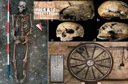 آثار تعذيب على هيكل عظمي لرجل من القرون الوسطى!
