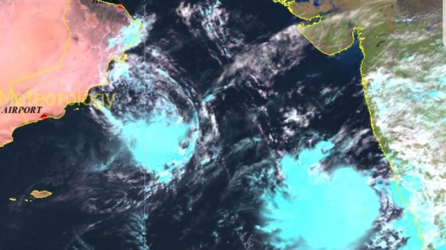 """توقعات بتطور كبير للحالة المدارية الجديدة في بحر العرب .. وتأثيرات """"كيار"""" مستمرة"""