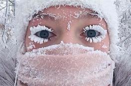 بالصور.. 500 شخص يتحدون أبرد قرية في العالم