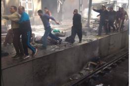 """بالفيديو والصور.. مصرع وإصابة العشرات في حريق هائل بـ""""محطة مصر"""""""