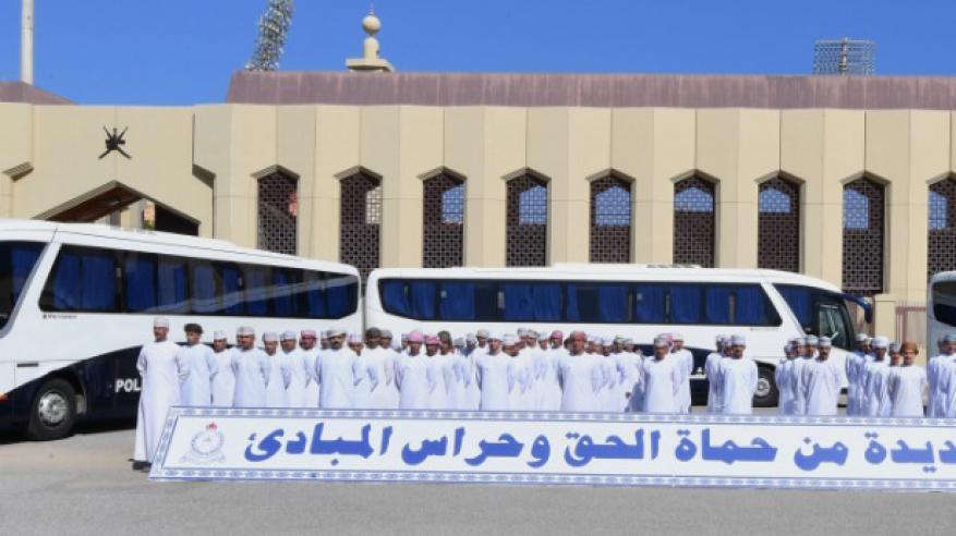 شرطة عمان السلطانية تستقبل دفعة من الشرطة المستجدين