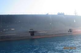 شاهد.. أول صور للاستهداف الصاروخي لناقلة النفط الإيرانية