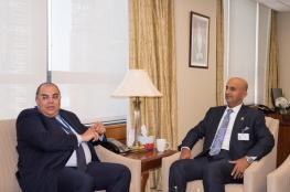 السنيدي يبحث سبل تعزيز التعاون مع نائب رئيس البنك الدولي لشؤون التنمية المستدامة