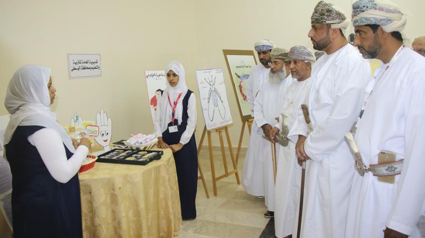 مشاركة مدارس ولاية هيماء بالمعرض