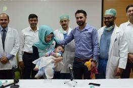 إزالة 4 أطراف زائدة من طفل عراقي