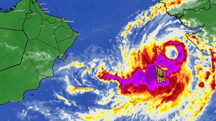 تزايد فرص تلاشي الإعصار المداري في بحر العرب