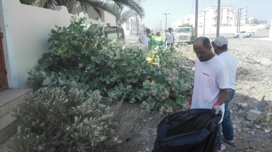بلدية مسقط تنفذ حملة نظافة بالخوض