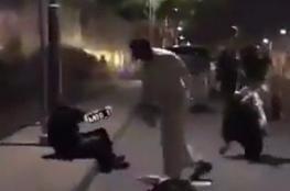 """شاهد.. فيديو اعتداء سعودي على امرأة يشعل """"تويتر"""""""