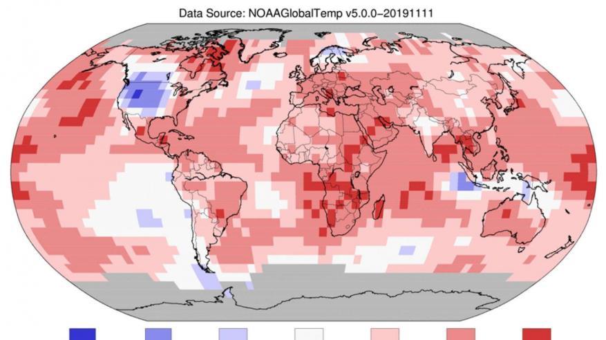 2019 ثاني أكثر الأعوام حرارة على كوكب الأرض