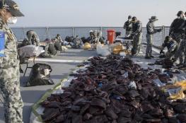 ضبط 3.1 طن من الحشيش في بحر العرب