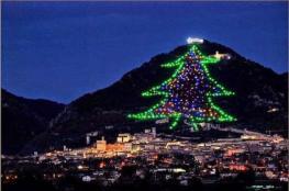بلدة إيطالية صغيرة تضيء أكبر شجرة عيد الميلاد في العالم