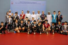 الصين تايبيه تستحوذ على جوائز عمان الدولية لكرة الطاولة