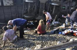 بالفيديو..مقتل 4  وإصابة 43 في تحطم قطار سريع بأنقرة