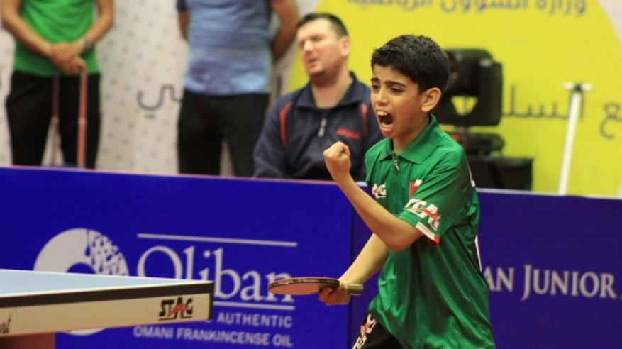 اللاعب أحمد الريامي في أحد لقاءات الفردي