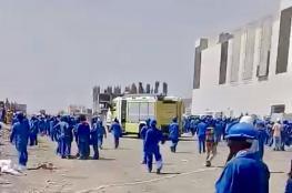 وفاة عامل آسيوى بانهيار سلم كهربائي بمنطقة المعبيلة