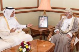 يوسف بن علوي يستقبل وزير المالية القطري