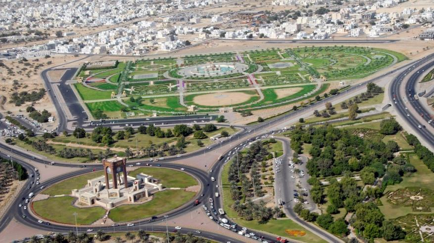 منظر جوي للتنمية والعمران بمحافظة مسقط