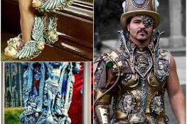 بالفيديو والصور..فنان يصمم أزياء من الأسمنت