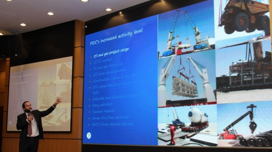 ريجي يشرح إمكانيات ميناء الدقم