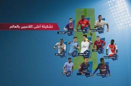 """11 لاعب في قائمة """"أغلى منتخب في العالم"""""""