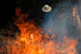 """بالصور.. البرازيل تستجيب وتبدأ في إخماد """"حرائق الأمازون"""" بعد التهديد الأوروبي"""