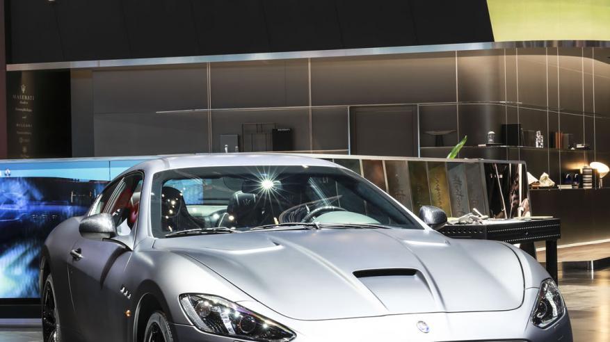 Maserati GranTurismo MC Grigio Lava Matte at Geneva Motor Show 2019