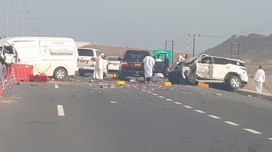 5 وفيات و6 إصابات في حادثين مروريين بثمريت وبدية