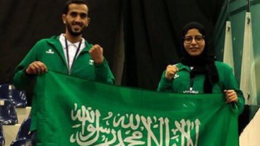 احتفاء كبير بأول سعودية تحقق أول ذهبية في فنون القتال