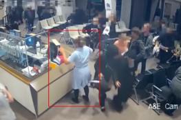 بالفيديو ..ماذا فعلت الممرضة بمسلح هاجم مستشفى