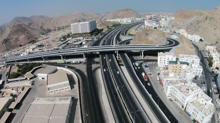 شبكة الطرق بمحافظة مسقط(1)