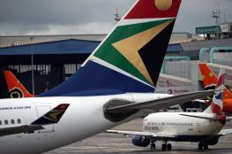 """بالفيديو.. اندلاع نار في طائرة """"بوينج"""" بجنوب إفريقيا"""