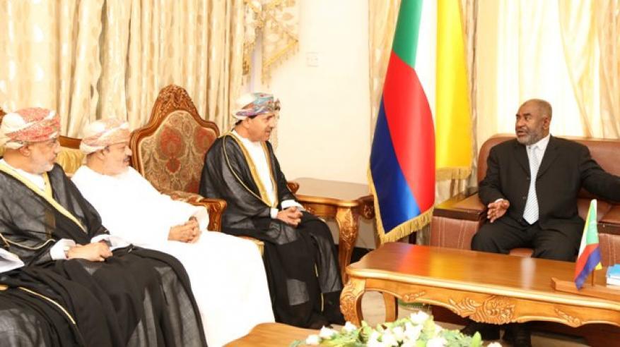 """رئيس جمهورية القمر المتحدة يشيد بالأوامر السامية بتنظيم المؤتمر الدولي """"عمان وعلاقتها بدول القرن الإفريقي"""""""