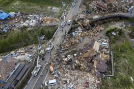 بالفيديو.. ارتفاع قتلى أسوأ إعصار يجتاح اليابان