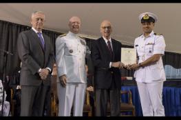 ضابط بالبحرية السلطانية العمانية يحصل على المركز الأول بالكلية البحرية الأمريكية