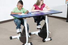 دراجات بدلا من المقاعد في المدارس