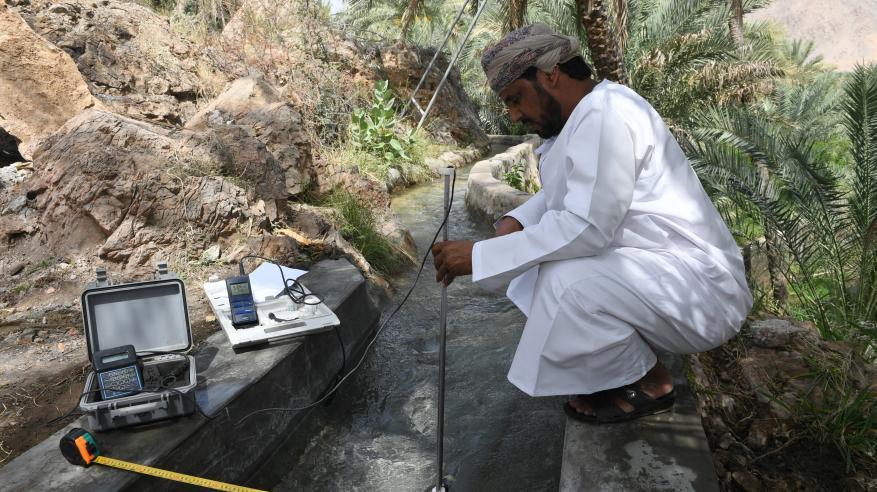 من أنشطة مراقبة الموارد المائية