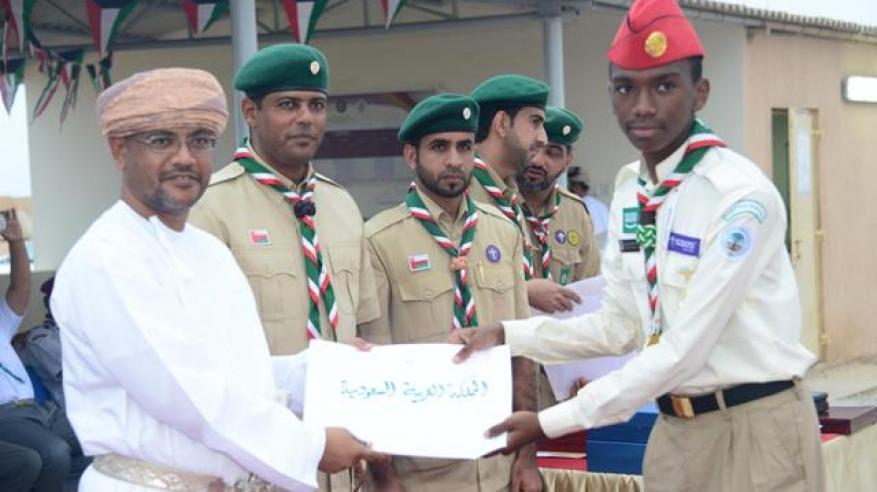تكريم أحد كشافة السعودية