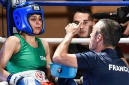 بالفيديو .. شاهد أول إيرانية تفوز في مباراة رسمية في الملاكمة