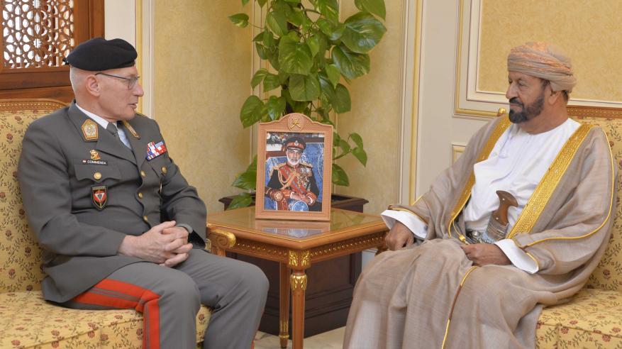 بدر بن سعود يستعرض التعاون العسكري مع رئيس أركان الدفاع النمساوي