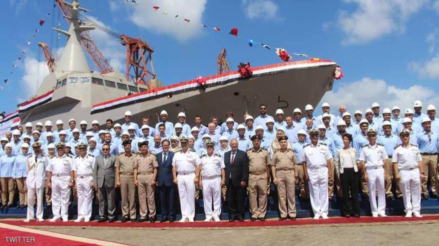 تدشن أول سفينة حربية مصرية