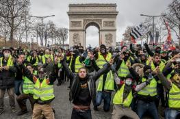 """اعتقال 85 شخصا في احتجاجات """"السترات الصفراء"""" .. ومصرع امرأة شمال باريس"""