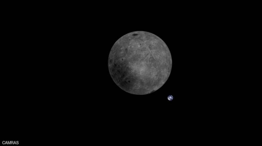 شاهد.. صورة مذهلة تجمع الأرض والقمر معا