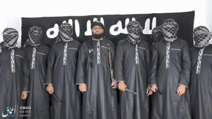 """شاهد.. """"داعش"""" ينشر مقطع فيديو لمنفذي تفجيرات سريلانكا"""