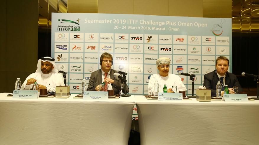 """الاتحاد الدولي لكرة الطاولة يشيد باستضافة السلطنة لبطولة """"سيماستر"""""""