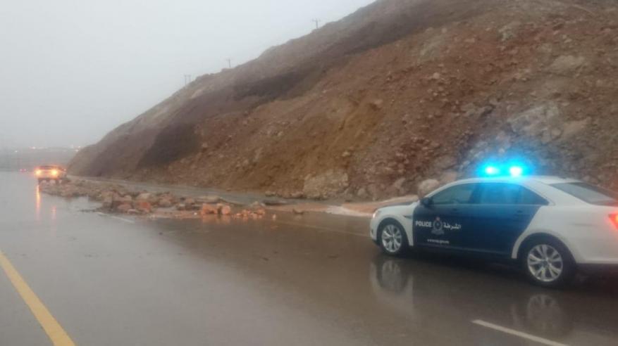 تساقط حجارة على طريق (قريات – صور) بسبب الأمطار