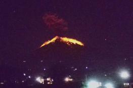بالفيديو .. بركان بالي يثور