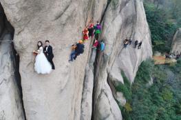 شاهد بالصور.. أخطر حفل زفاف في العالم