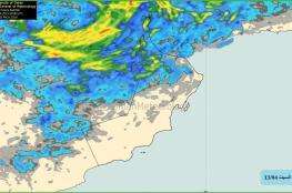 توقعات بأمطار رعدية متفرقة على بعض المناطق بالسلطنة