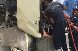 بالصور .. 8 إصابات بليغة في حادث تدهور حافلة على طريق عقبة بوشر