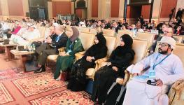 حقوق الإنسان تختتم مشاركتها في مؤتمر الدوحة الدولي.JPG